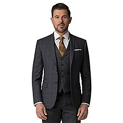The Collection - Charcoal tonal check tailored fit jacket