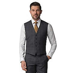 The Collection - Charcoal tonal check waistcoat