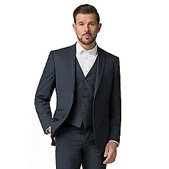 The Collection - Deep blue check tailored fit jacket