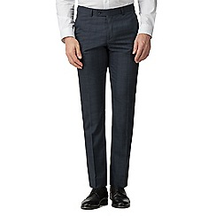 The Collection - Deep blue check tailored fit trousers