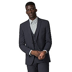 The Collection - Navy broken texture tailored fit jacket