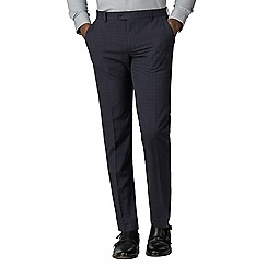 The Collection - Navy broken texture tailored fit trousers