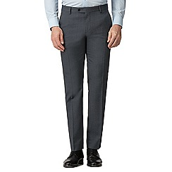 The Collection - Charcoal semi plain tailored fit trousers