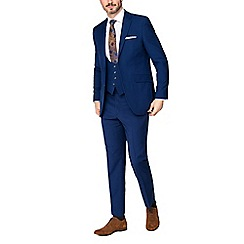 Occasions - Bright blue plain regular fit trousers