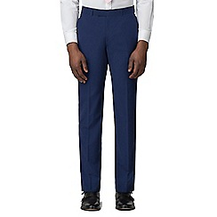 Occasions - Blue plain tailored fit trousers
