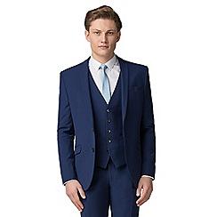 Occasions - Bright blue plain slim fit jacket