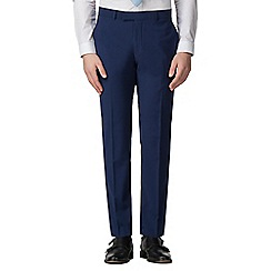 Occasions - Bright blue plain slim fit trousers
