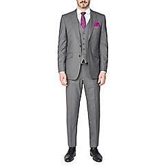 Occasions - Grey plain regular fit trousers