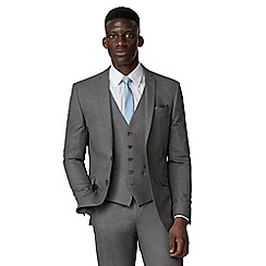 Occasions - Grey plain tailored jacket