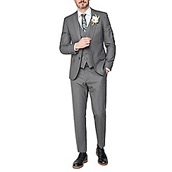 Occasions - Grey plain slim fit suit