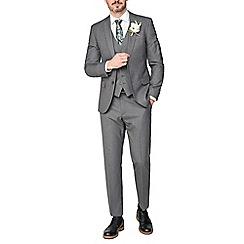 Occasions - Grey plain slim fit jacket