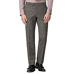 Red Herring - Oatmeal donegal slim fit trousers