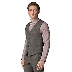 Red Herring - Oatmeal donegal slim fit vest