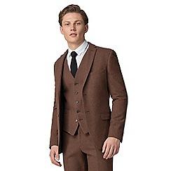 Red Herring - Rust donegal slim fit jacket