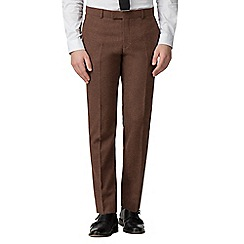 Red Herring - Rust donegal slim fit trousers