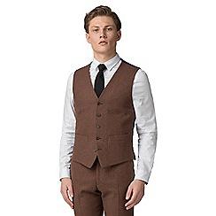Red Herring - Rust donegal slim fit vest