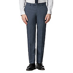Red Herring - Airforce blue donegal slim fit trousers