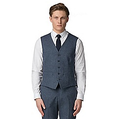 Red Herring - Airforce blue donegal slim fit vest