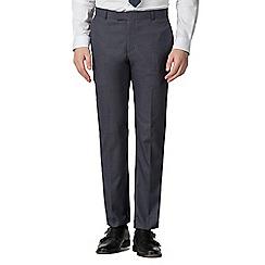Red Herring - Airforce blue jaspe slim fit trousers