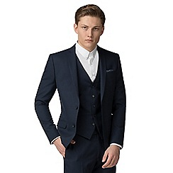 Red Herring - Deep blue semi plain slim fit suit