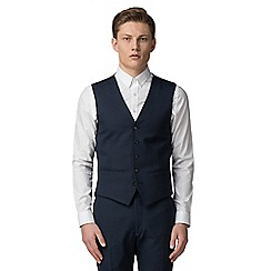 Red Herring - Navy semi plain slim fit waistcoat