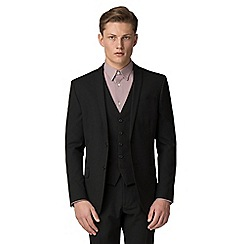 The Collection - Black plain slim fit suit