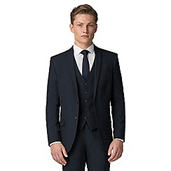 The Collection - Navy plain slim fit jacket
