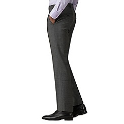 Jeff Banks - Grey Check machine washable tailored fit wool blend formal trousers