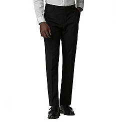 Red Herring - Black tuxedo slim fit trousers