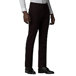 Red Herring - Burgundy skinny fit trousers