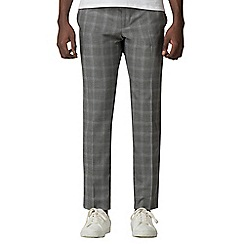Red Herring - Grey with blue overcheck slim fit trousers