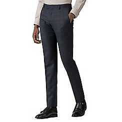 Red Herring - Navy with rust windowpane slim fit trousers