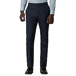 Red Herring - Blue textured check skinny fit trousers