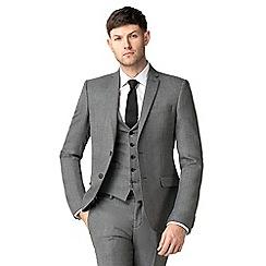 Ben Sherman - Grey jaspe tailored fit jacket