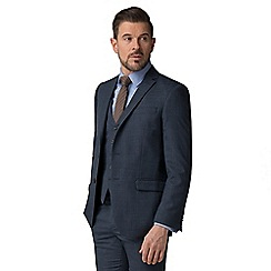 Ben Sherman - Blue jaspe check tailored fit jacket