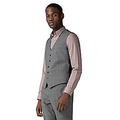 Ben Sherman - Grey windowpane check waistcoat