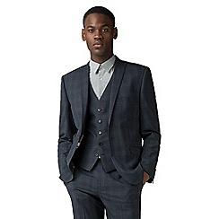 Ben Sherman - Blue with navy overcheck slim fit jacket