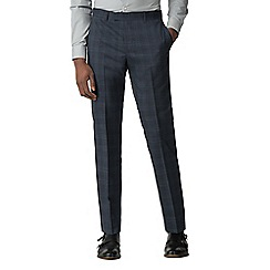 Ben Sherman - Blue with navy overcheck slim fit trousers
