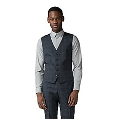 Ben Sherman - Blue with navy overcheck waistcoat