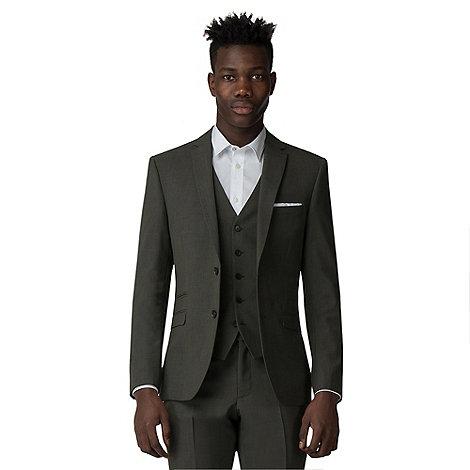 Ben Sherman Sage green tonic slim fit suit-   Debenhams