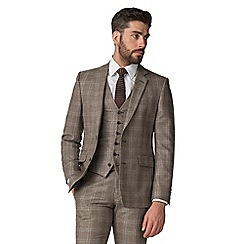 Hammond & Co. by Patrick Grant - Brown and blue windowpane check jacket