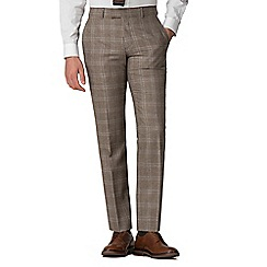 Hammond & Co. by Patrick Grant - Brown and blue windowpane check trousers