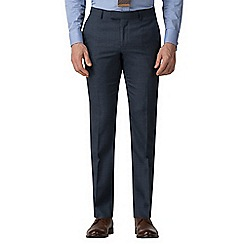 Ben Sherman - Blue jaspe check athletic fit trousers