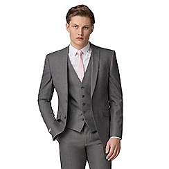 Occasions - Grey plain skinny fit jacket