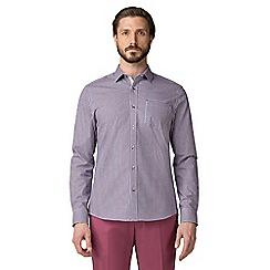 Jeff Banks - Red dobby check shirt