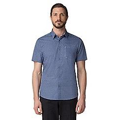 Jeff Banks - Blue bean print shirt