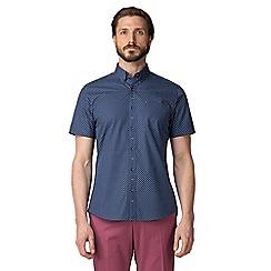Jeff Banks - Navy oval print shirt