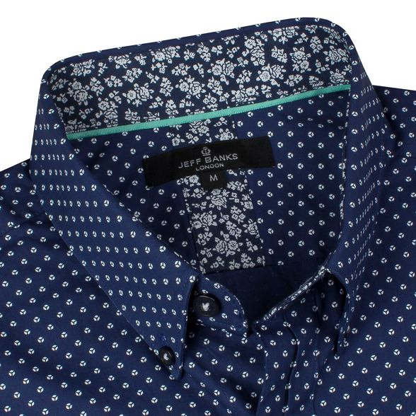 print oval Navy shirt Banks Jeff Tw7gqxOg