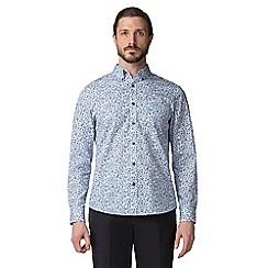 Jeff Banks - Blue paisley print shirt