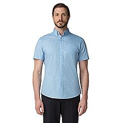 Jeff Banks - Light blue dragonfly print shirt